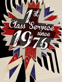 1st Class Service Since 1976
